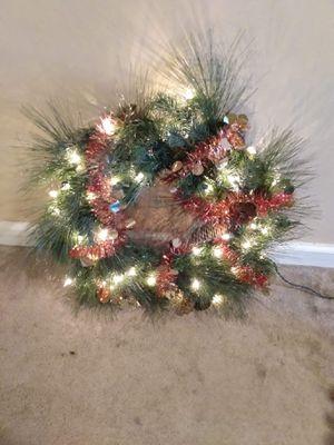 Christmas lighted wreath ...plug for Sale in Upper Gwynedd, PA