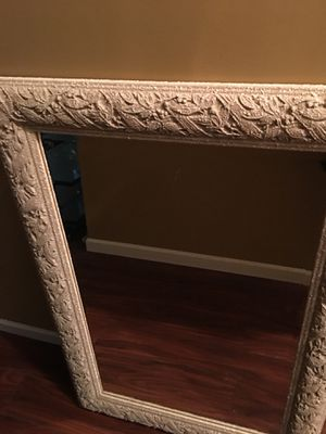 Mirror with stone frame 27x39in 68.5x99 cm for Sale in High Point, NC