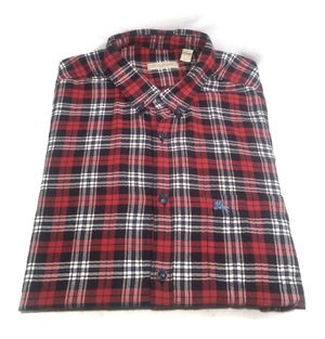 Burberry Brit Mens L/S Button Down Flannel Shirt Red Blue White Plaid Medium for Sale in Austin, TX