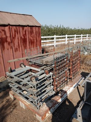Industrial grade stacking shelving units. Stack 4 tall per cart. Heavy duty all made of steel. for Sale in Manteca, CA