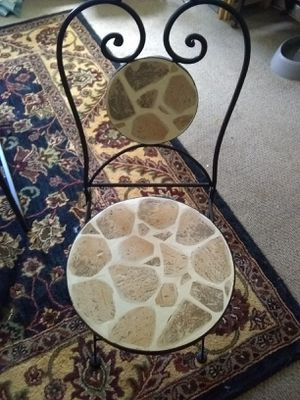 Pier 1 heavy folding coffee/breakfast table(Sold) but found the matching chair. for Sale in Laurel, MD