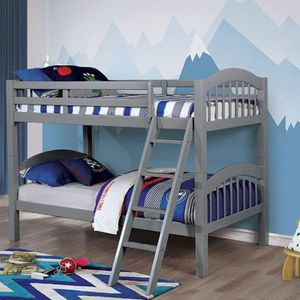 GRAY FINISH TWIN SIZE BUNK BED + MATTRESSES for Sale in Riverside, CA