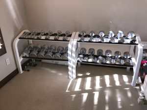 Chrome dumbbell set with rack (new) for Sale in Phoenix, AZ
