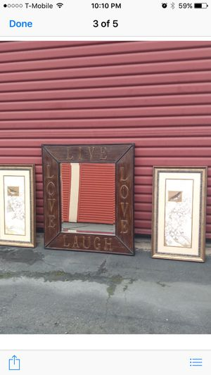 3 pieces ..Big mirror and 2 wall frames for Sale in San Marcos, CA