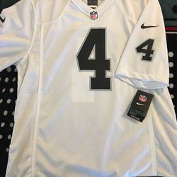 Nike/NFL large Carr, White Jersey. Brand new with tags for Sale in Bakersfield,  CA