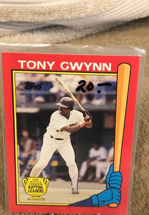 CARD BASEBALL TONY GWYNN TOP ACTIVE 1989 for Sale in Downey, CA
