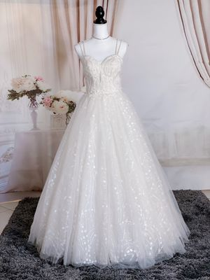 Light blush spaghetti strap fairy wedding dress/Quinceanera&Sweet 15 for Sale in Fort Lauderdale, FL