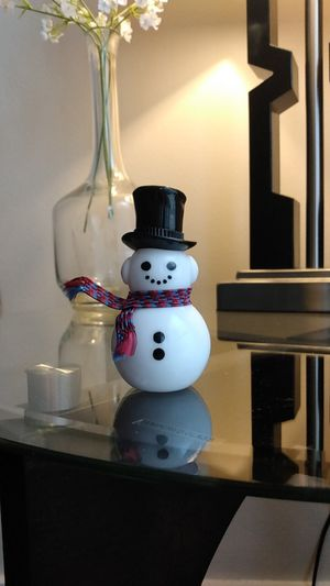 "Vintage Avon 3"" Dapper Snowman with scarf and some Sweet Honesty Cologne in collectible white glass bottle for Sale in Belleville, MI"