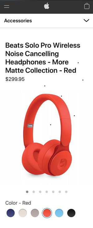 Beats Solo Pro Wireless Noise Cancelling headphones - more matte collection - ( Red ) for Sale in Queens, NY
