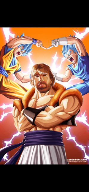 Dragonball Z Fusion Chuck Norris 11x17 Print for Sale in Maple Shade Township, NJ