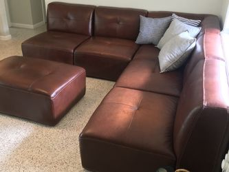 Leather Sofa For Sale - Lots Of Flexibility for Sale in Miami Shores,  FL