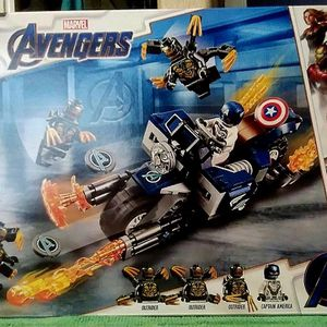 LEGO Avengers Captain America Outriders Attack Set 76123 Age 6+ for Sale in San Diego, CA