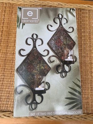 Candle sconces with votives-2 new in box for Sale in San Marcos, CA