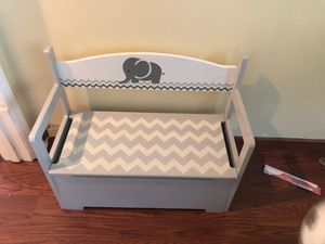Bench and storage perfect for baby nursery and toy bin for Sale in San Jose, CA