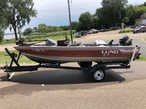 1988 Lund Fury 1600 with 50 horse Mercury for Sale in New Prague, MN