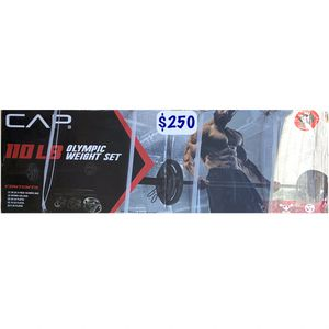 Cap 110lb Olympic Weight Set for Sale in West Covina, CA