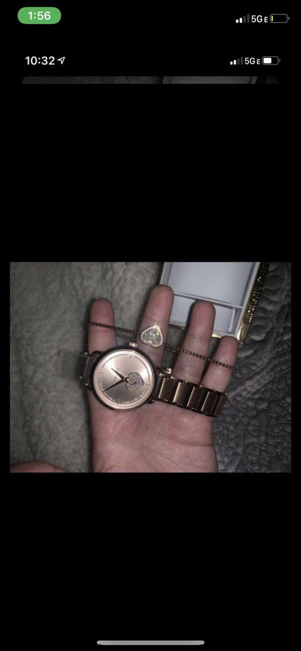 Rose gold Michael kors watch and bracelet