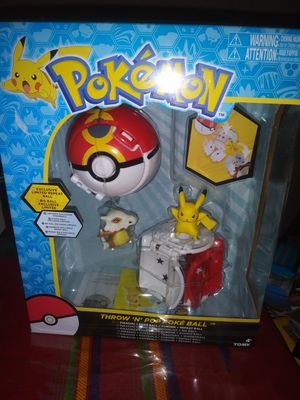 Pokemon Throw N Pop Poke Ball Pikachu Cubone Toy Sealed In Box Mint for Sale in Los Angeles, CA