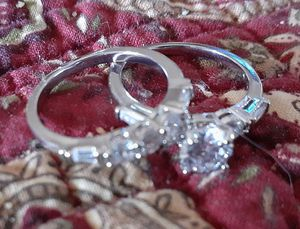 925 Silver Engagement Ring Size 6 for Sale in Hesperia, CA