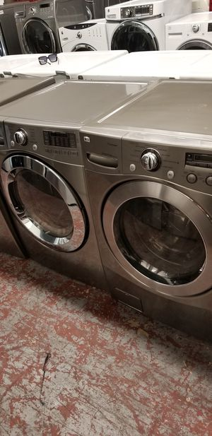Lg washer and dryer front load set high capacity for Sale in San Antonio, TX