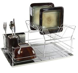 Stainless steel Iron Shelf Dish Rack for Sale in Queens,  NY