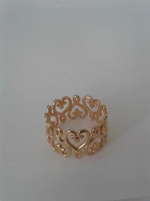 Entwined Hearts Ring, 14k Gold over Sterling Silver, Size 6 for Sale in Woodbridge, VA