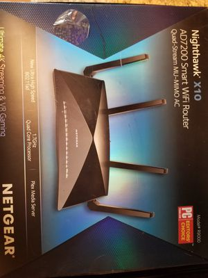 NETGEAR - Nighthawk X10 AD7200 Tri-Band Wi-Fi Router - Black for Sale in Queens, NY