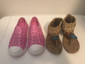 Toddler girl shoes/moana sandals for Sale in Seffner, FL