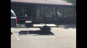 Heavy duty 5'x7' steel trailer with removable steel frame top for Sale in Portland, OR