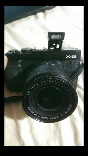 Fujifilm X-E2 16.3 MP Mirrorless Digital Camera with 3.0-Inch LCD and 18-55mm Lens (Black) for Sale in Lithonia, GA