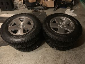 Jeep Wrangler wheels and tires for Sale in Rockville, MD