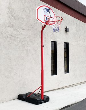 """New in box $75 Basketball Hoop w/ Stand Wheels, Backboard 32""""x23"""", Adjustable Rim Height 6' to 8' for Sale in South El Monte, CA"""