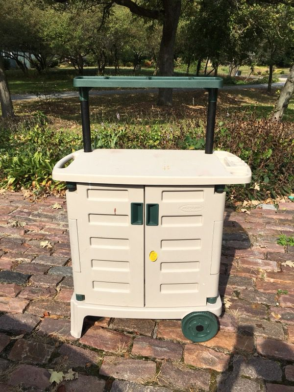 Suncast Bgc2000 Garden Barbecue Cart Storage For Sale In