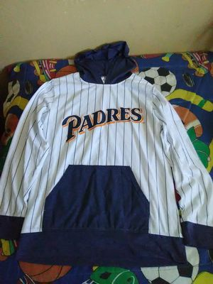 SAN DIEGO PADRES SHIRT LONG SLEEVE HOOD SIZE MÉDIUM ADULT for Sale in Escondido, CA