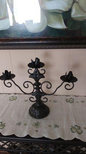 lron candelabra candle holder for Sale in Hemet, CA