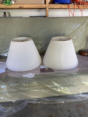 Matching lamp shades for Sale in Marblehead, MA