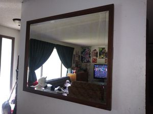 Antique Mirror Large Solid Wood Frame for Sale in Everett, WA