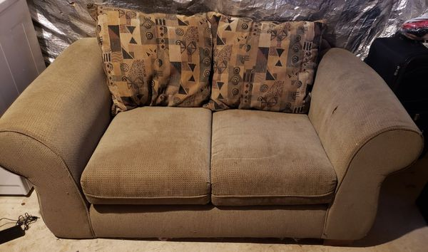 FREE couch set , moving and need to get rid of!There are some normal wear/tear to this set. Will deliver if local.