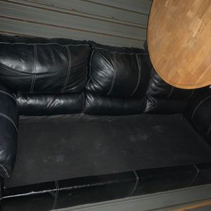 Must Go! Sofa And Love Seat! Black Leather for Sale in Cleveland, OH