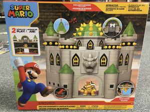 World of Nintendo Super Mario Deluxe Bowsers Castle Playset for Sale in Newton, KS