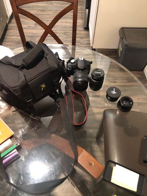 Canon EOS Rebel DSLR Model T5 with Lenses and case for Sale in San Diego, CA