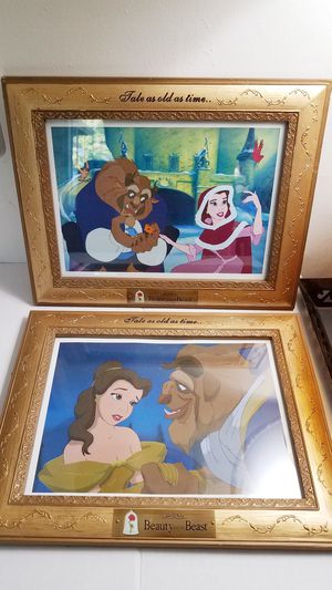 2 Disney/ Beauty & the beast framed pictures for Sale in Tigard, OR