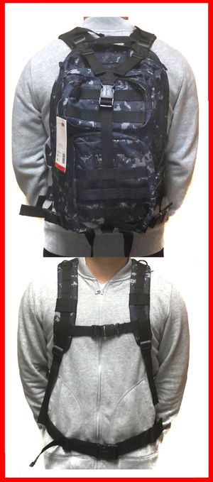 NEW! Tactical military style camouflage Backpack molle camping hiking fishing work gym flag school book travel bag for Sale in Carson, CA
