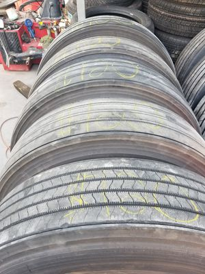 Used brigestone trailer tires 295/75r22.5 for Sale in Houston, TX
