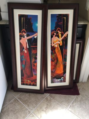 2 Paintings- beautifully framed. for Sale in Rancho Cucamonga, CA