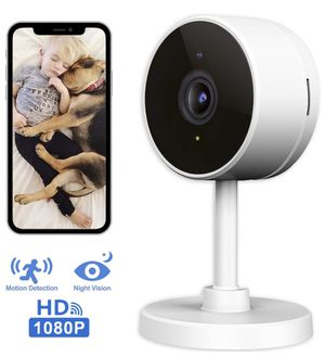 NEW! WiFi Home Security Surveillance Camera 1080P, Smart Baby Monitor Compatible with Alexa and Google Home, Motion Detection & Tracker, Night Vision for Sale in Stuart, FL