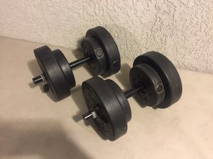 Set of 20lb weights for Sale in Fresno, CA