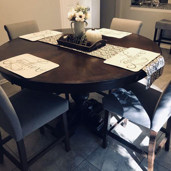 60 inch wood round pedestal dining set MAKE AN OFFER