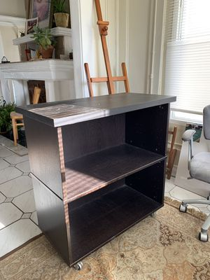 Ikea book shelf on wheels for Sale in West Palm Beach, FL