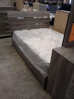 5pc Queen Grey Bedroom Set for Sale in Greensboro, NC